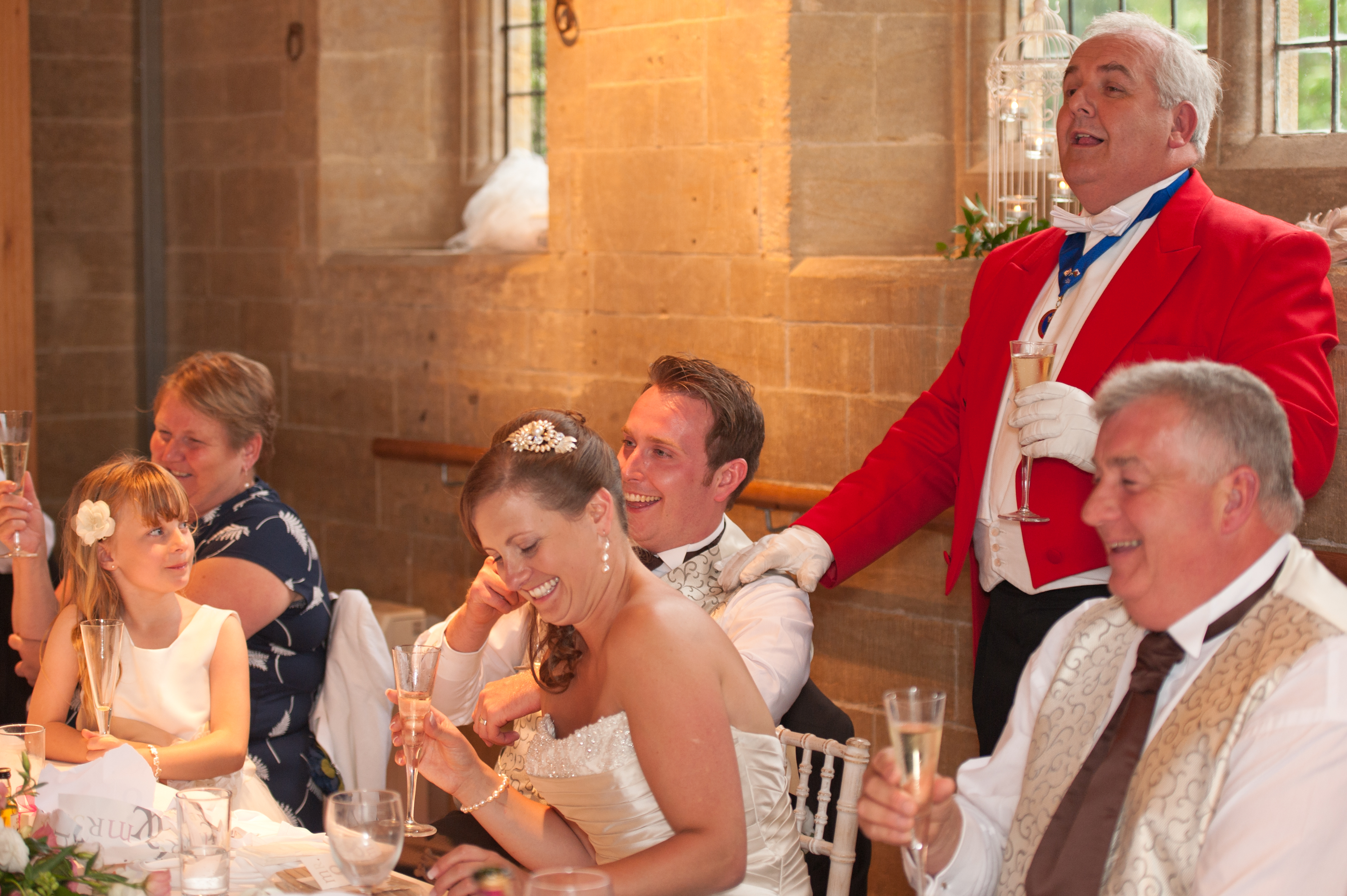 Toastmaster role at wedding